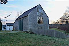 Studio Barn at Cox in twilight