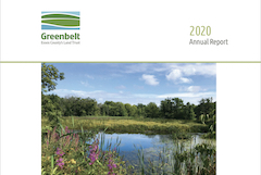 cover of 2020 Annual Report - Colby Farm pond