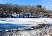 Artichoke Reservoir in winter