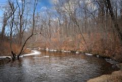 Shawsheen River bend at Den Rock Park, Lawrence