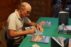 Dr. Alan Poole signing his Osprey book
