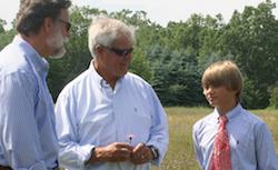 Ed Becker, John Morris and grandson Hans Morris