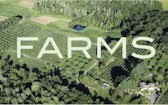 Cover of newsletter, farm photo from the air