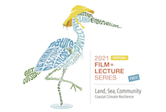 Hand-drawn heron, Film and Lecture Series logo