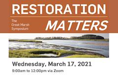 "Great Marsh Symposium poster ""Restoration Matters"""