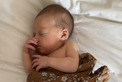 Baby Nora Letizia, a few days old!