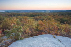 fall view from Sunset Mountain, Tompson Street Reservation