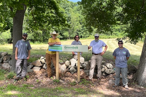 Greenbelt's Stewardship Team at new Vineyard Hill