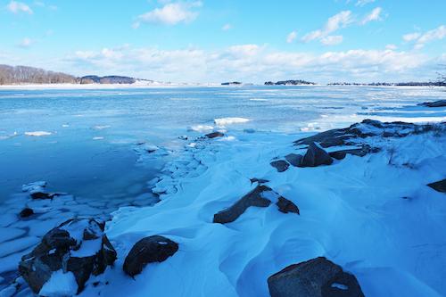 Essex River frozen